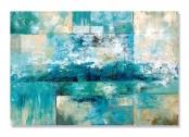 Tablou Canvas – Valuri, Mare, Abstract, Albastru