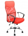 Scaun de birou ergonomic Kring Fit, Mesh, Rosu