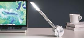 Lampa de birou cu functie touch Octagon One Marble
