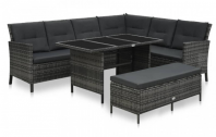 Set mobilier de grădină cu perne